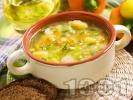 Рецепта Зеленчукова супа с картофи, целина, ориз, пресен лук и карфиол